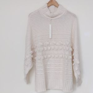 Caslon Sweater Textured Mock Neck Ivory